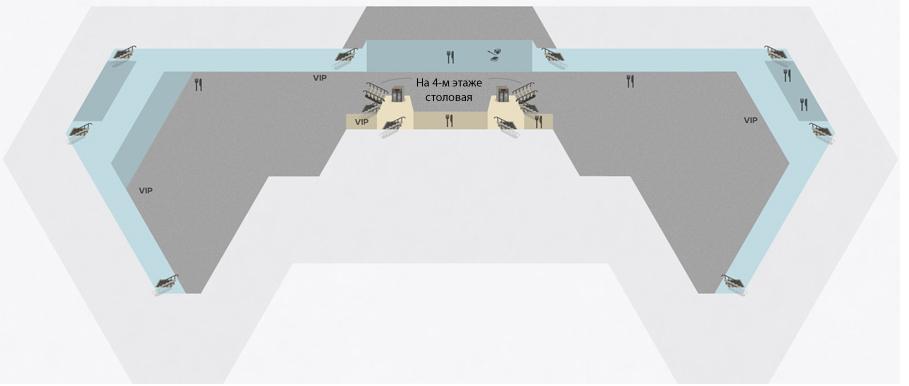 Схема терминала F (Шереметьево